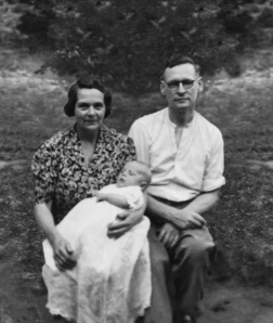 In 'Wounded: a Great War novel' I allude to how ill at ease, many years after the war, Snow seemed at family gatherings, especially weddings and christenings - strangely withdrawn. I think this photograph of my mother and father taken with the author on the day of his christening tells you where that idea came from.